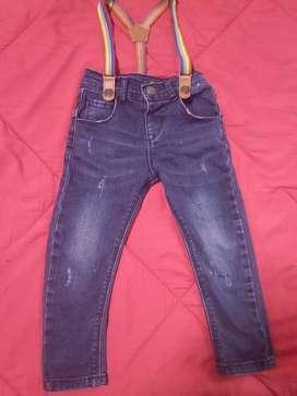 Pantalon con tiradores importado