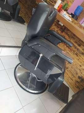 Sillón reclinable de barbería giratorio