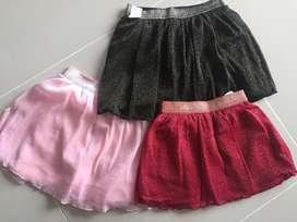 Falda niñas varios colores