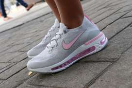 Tenis Nike React Air Bag Gris Rosa Envio Gratis