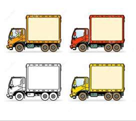 Camion de carga Pesada Trabajo