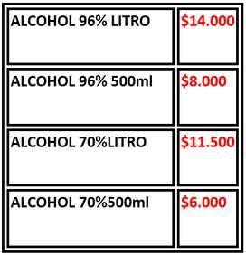 Alcohol Antiseptico Al 70% Litro