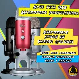Blue Yeti Usb Microfono Profesional Varios Colores