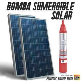 Bomba Sumergible Solar 50m Altura Con Panel 500w