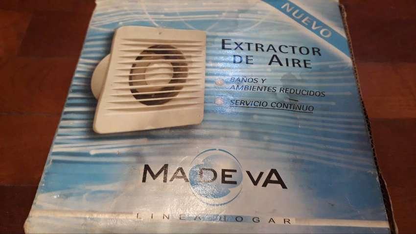 Etractor de aire para baño Madeva blanco 150mm diámetro 0