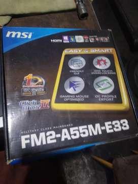 MSI fm2 a55m e33 nuava sin uso