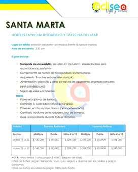 Excursión Santa Marta Terrestre