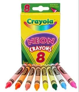 Remate Oferta Crayola crayones neon x 8