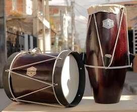 bombo y cununo Tonson prestigio ancestral  kit de tambores marca Tonson, tambores del pacifico..