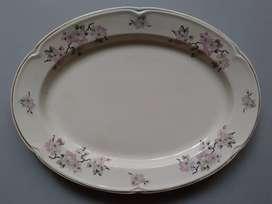 Bandeja Porcelana Hartford Flor De Durazno Borde Filigrana