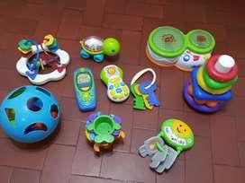 Lote Juguetes primera infancia musicales y didacticos