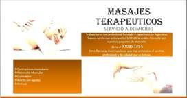 FISIOTERAPIA - MASAJES TERAPÉUTICOS: SERVICIO A DOMICILIO