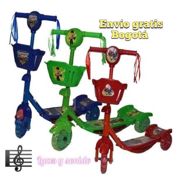 Patineta canasta con luces y sonido, monopatín para niños, SCOOTER para niñas