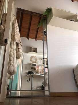 Espejo Grande Hierro Repartido 1.60x0.80m Vintage Industrial