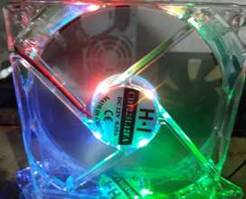Fan Cooler 120x120mm RGB Efecto Rainbow conectore Molex m/h