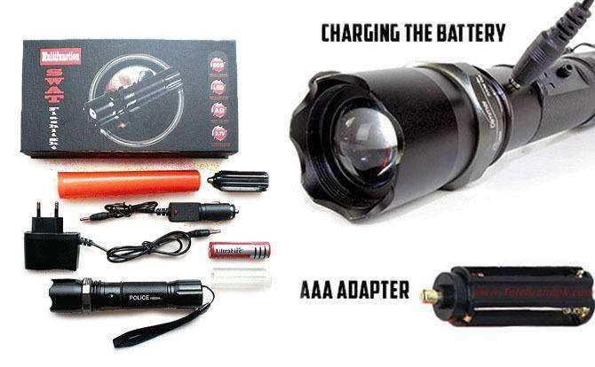 Zatsu. Multifunción SWAT Zoom Linterna , Ciclismos, Antorcha Roja  Seguridad