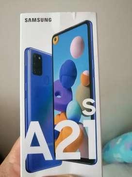Vendo celular nievo de caja sin uso samsung A21s