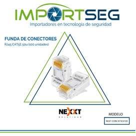 Conectores Rj45 Cat5 Nexxt Funda De 100 Unidades Datos