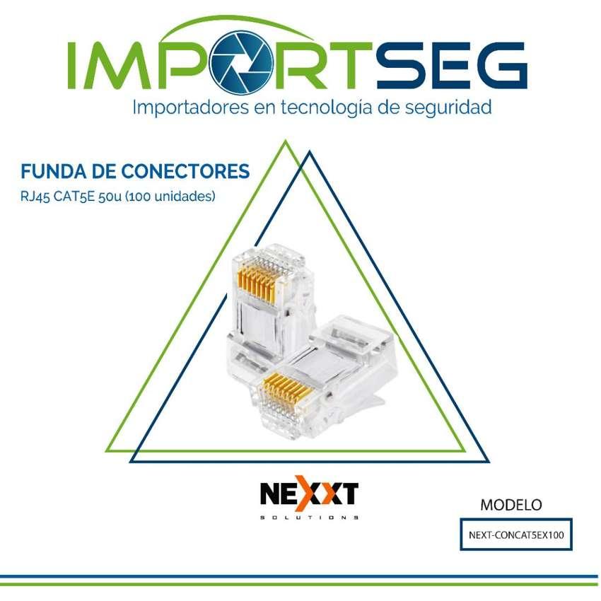 Conectores Rj45 Cat5 Nexxt Funda De 100 Unidades Datos 0