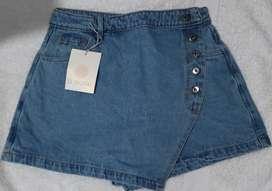 Falda short azul claro Talla 8