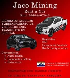 Alquiler de Autos Y Camionetas