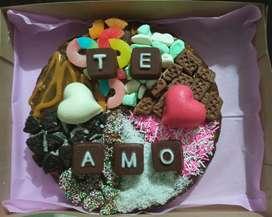 Brownie decorado