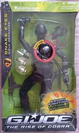 GI JOE Snake Eyes Ninja Commando with Sounds 12 inches Hasbro