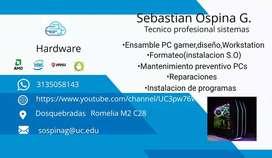 Busco Empleo Como Tecnico en Sistemas(certficados, pronto titulacion)