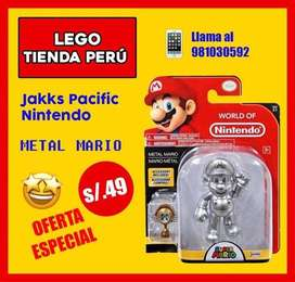 Mario bros nintendo plateado