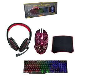 COMBO GAMER RGB  4 EN 1 LUZ LED (PARA COMPUTADOR)