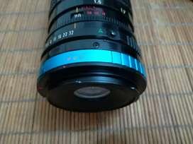 Lente canon con anillo adaptador 70-150 mm
