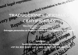 Traducciones oficiales inglés-español