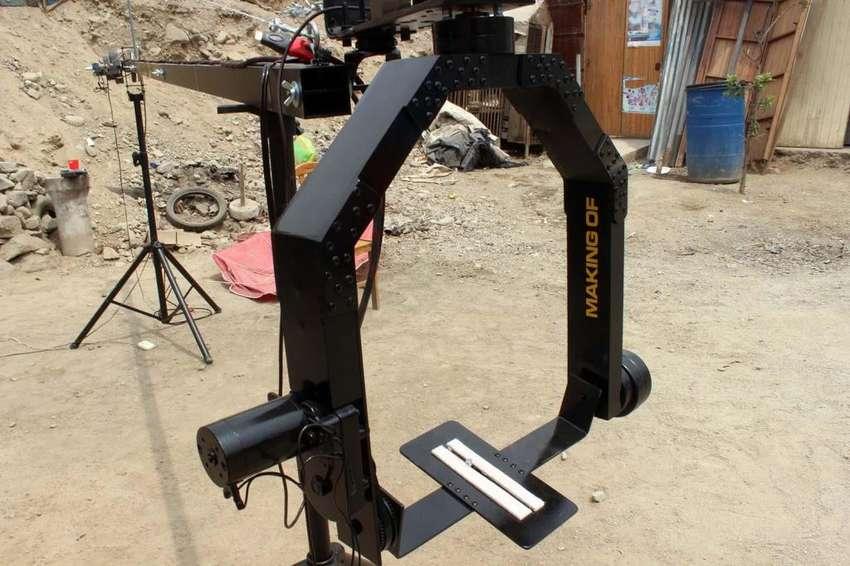Grua Con Cabezal Robotico, Para Dslr 0
