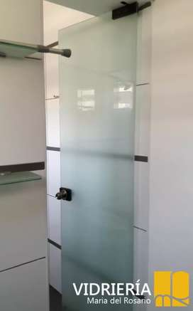 VIDRIERIA .confección Mamparas puertas de ducha ,ventanas  sist corredizo pivot