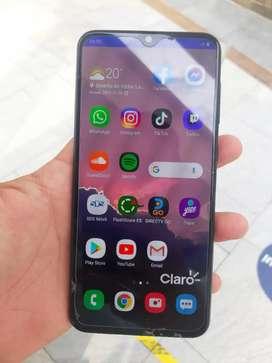 Samsung A50 detalle de huella, pantalla cambiada