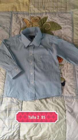 Camisa de Niño Talla 2
