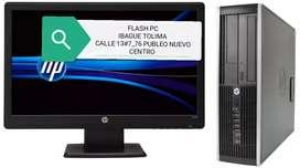 Oferta computadoras hp core i3 con disco solido 512 monitor 19 teclado mauso