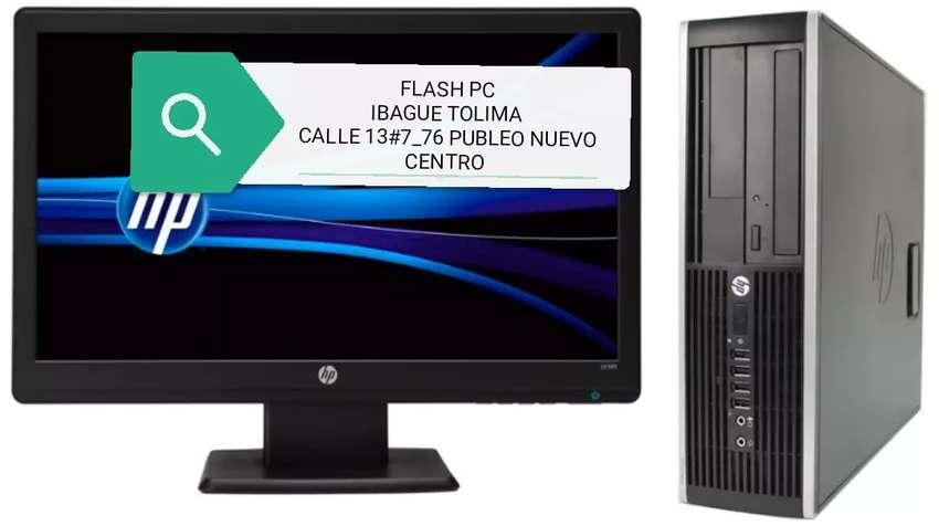 Oferta computadoras hp core i3 con disco solido 512 monitor 19 teclado mauso 0