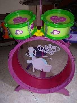 Batería de musica para niñas