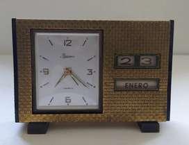 Reloj Jawaco antiguo de mesa de cuerda