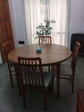 Vendo mesa y 6 sillas