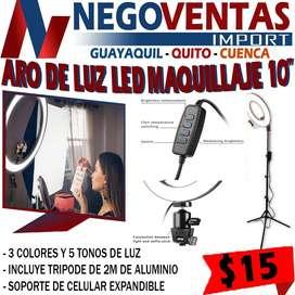 ARO DE LUZ LED 10' PARA  MAQUILLAJE