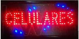 Cartel led luminoso CELULARES