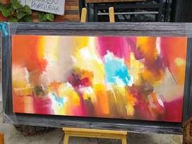 Excelente cuadro pintado al óleo sobre lienzo