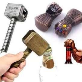 Destapador Guante Thanos o Martillo Thor Avengers Regalo cumpleaños regalo hombre, bar
