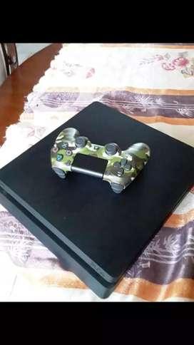 Playstation 4 slim (precio negociable o cambio por iphone 8  en adelante)