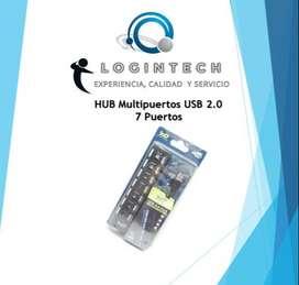 Hub Usb 2.0 Multipuertos - 7 Puertos Con Switch