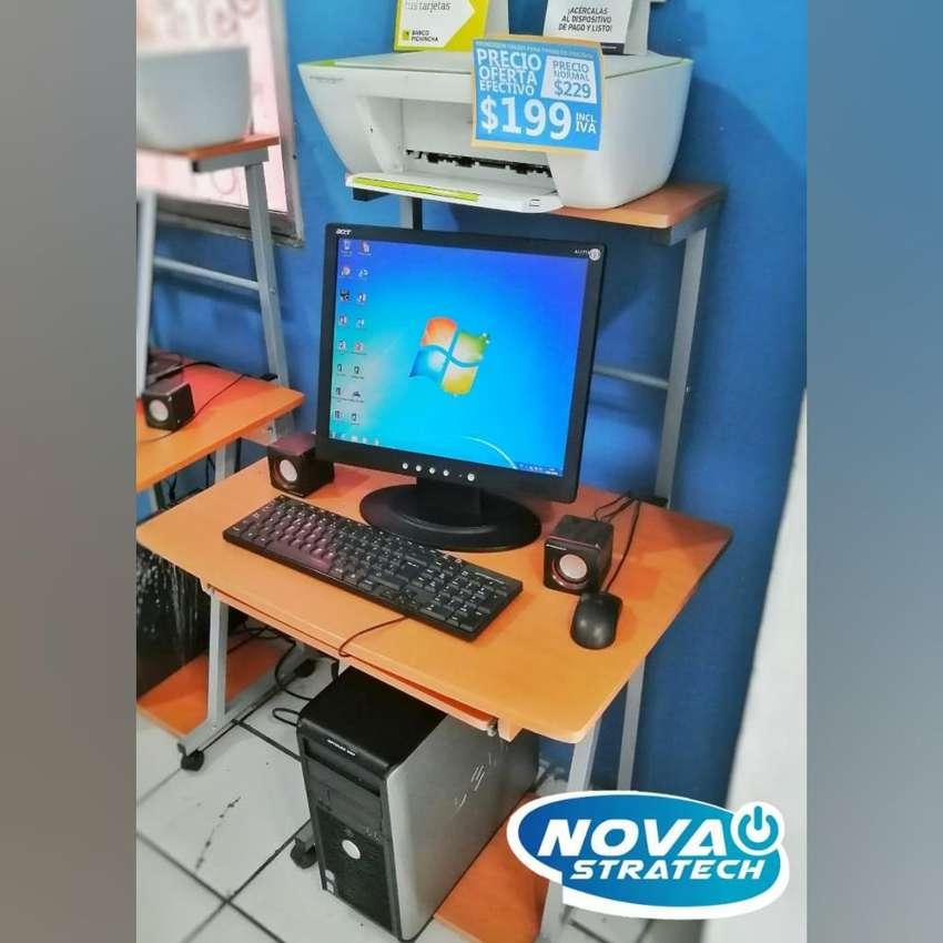 Computadora Completa con Mesa E Impresora Hp Gratis 0