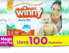 Pañales para bebés por 100