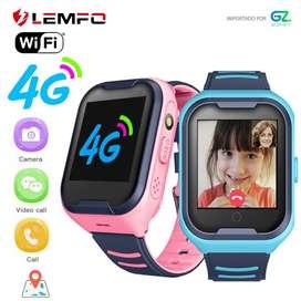 LEMFO G4H Niños Reloj Celular Inteligente 4g LTE WIFI Ip67
